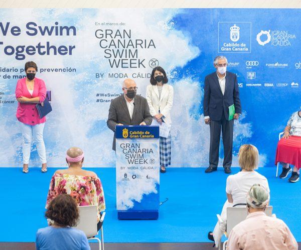 Gran Canaria Swim Week by Moda Cálida presenta el desfile We Swim Together (Nadamos Juntas) con firmas y colecciones adaptadas a las consecuencias del Cáncer de Mama