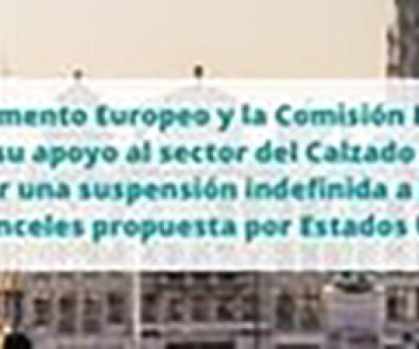 La Federación de Industrias del Calzado Español (FICE) cuenta con el apoyo del Parlamento Europeo y la Comisión Europea para obtener una suspensión definitiva de la subida de aranceles propuesta por Estados Unidos también en el sector del calzado.